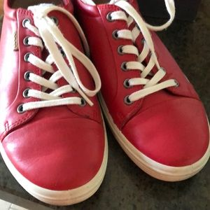 Ladies ECCO soft 7 tomato red shoes